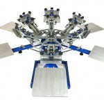Оборудование для шелкографии. Карусельный станок.