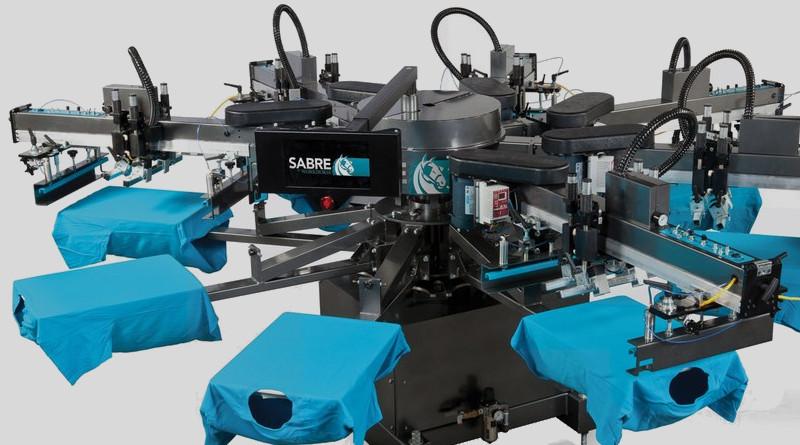 Автоматический станок для печати на футболках Workhorse Sabre