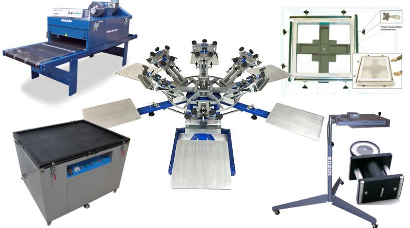 оборудование для шелкографии на футболках