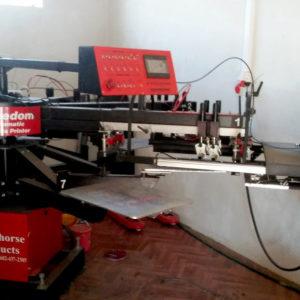 Автоматический карусельный станок для текстильной печати