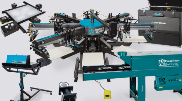 Автоматический станок для печати на футболках