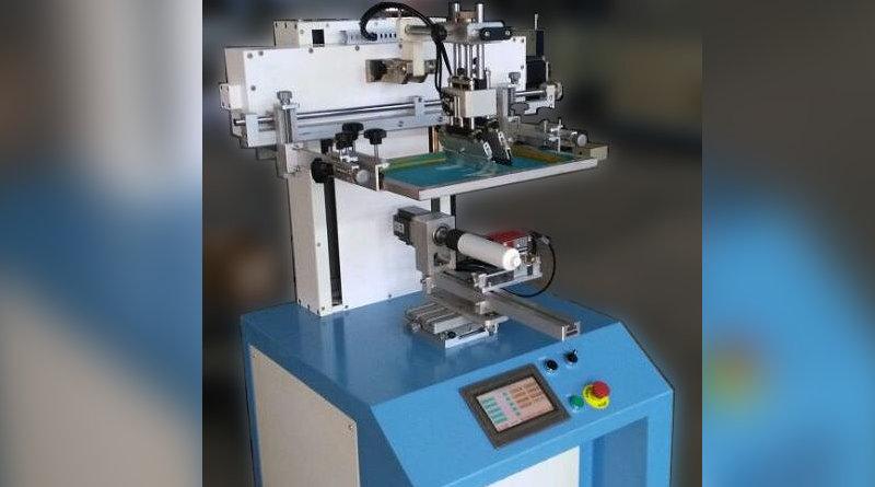 Полуавтоматический шелкотрафаретный станок для цилиндрической печати пр-ва Китай