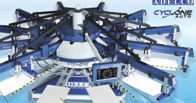 Высокоскоростные карусельные станки Cyclone от Adelco для текстильной печати
