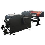 Широкоформатный струйный принтер для цифровой рулонной печати термотрансферов с установкой для нанесения и подсушивания термотрансферного порошка