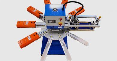 Автоматический станок 1х10 +6 для печати на носках и перчатках